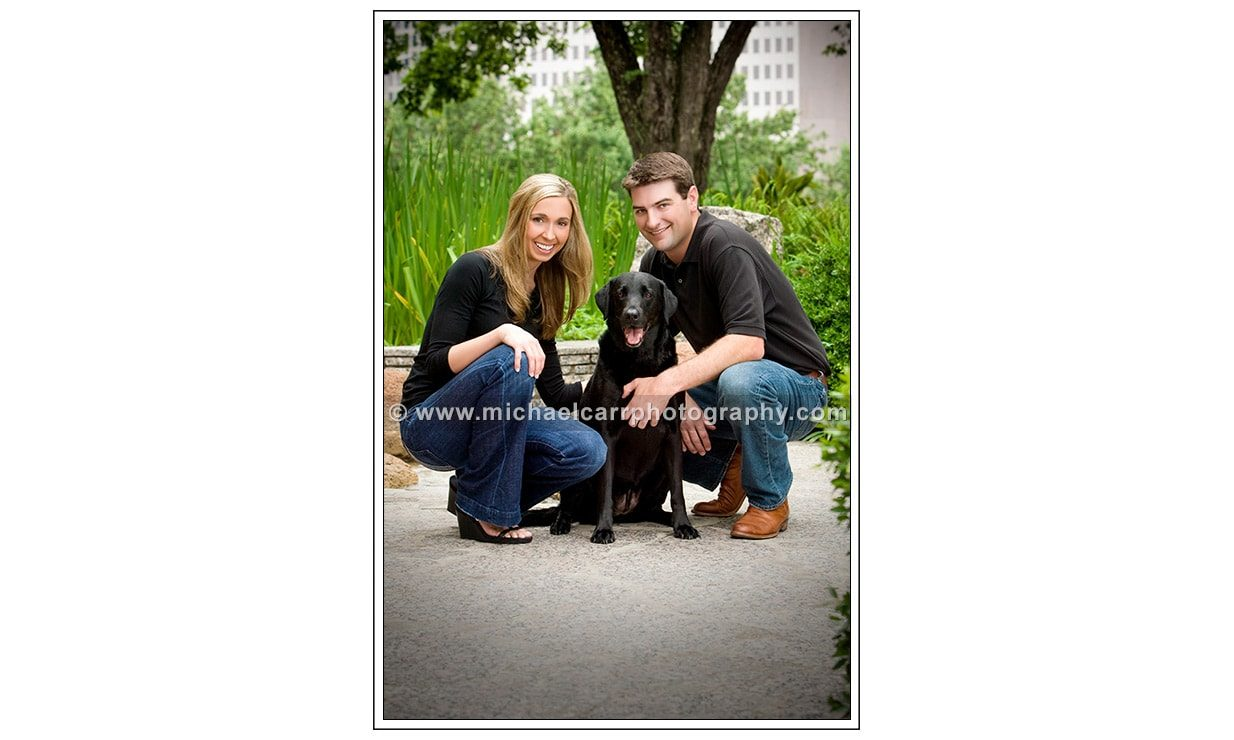 Outdoor Engagement Portraits with Dogs
