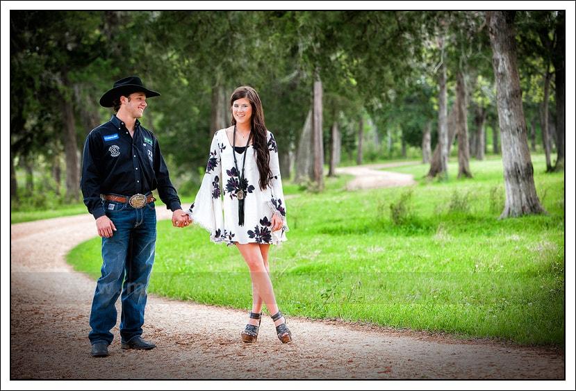 Texas Ranch Engagement Portrait Photography